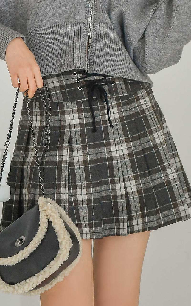 childhood wish lace-up skirt