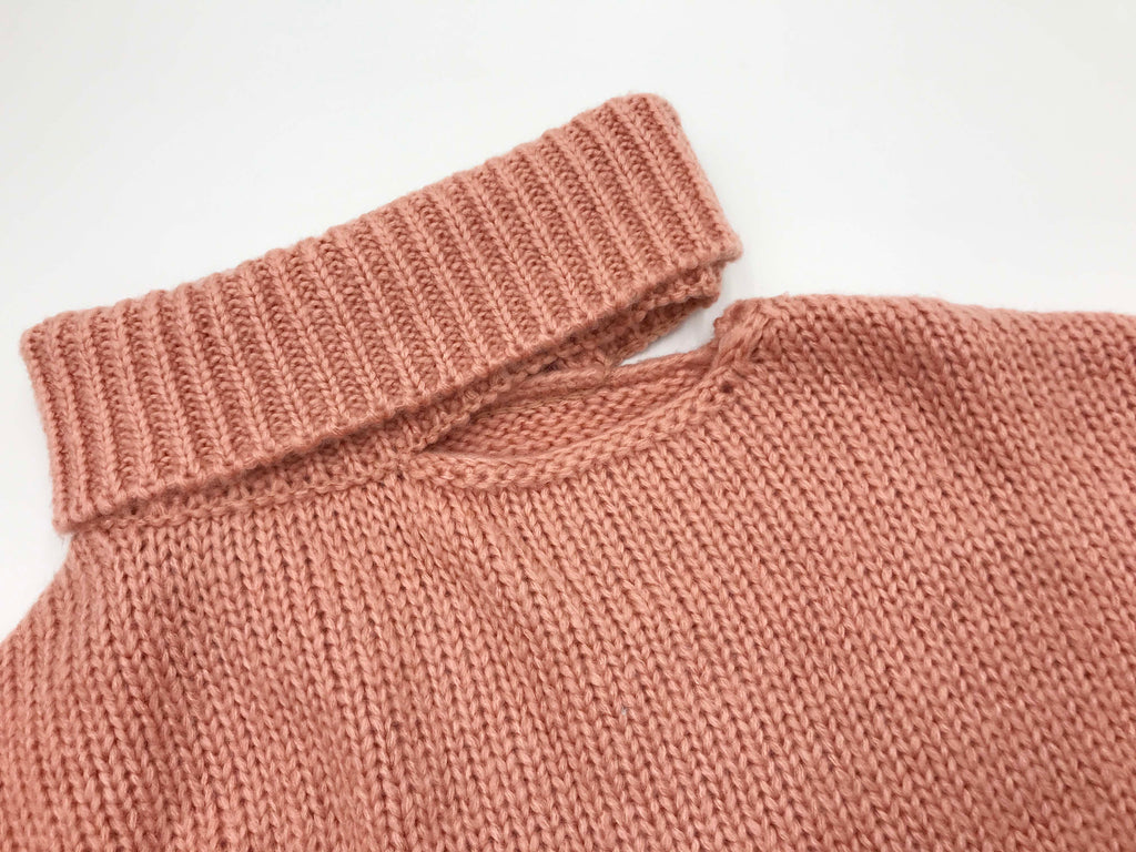 keep my name cold shoulder knit