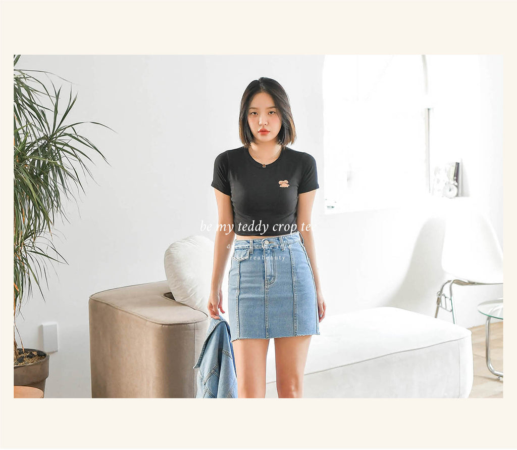 be my teddy crop tee