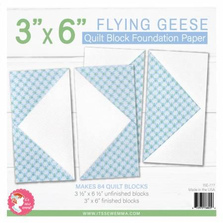 3in x 6in Flying Geese Foundation Paper