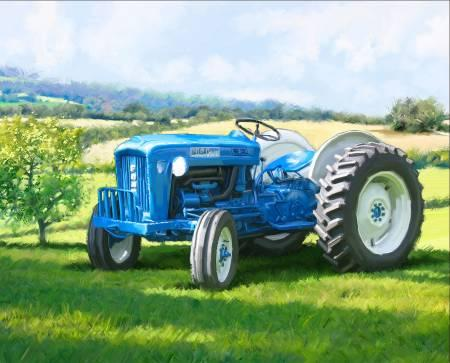 Blue Tractor Panel