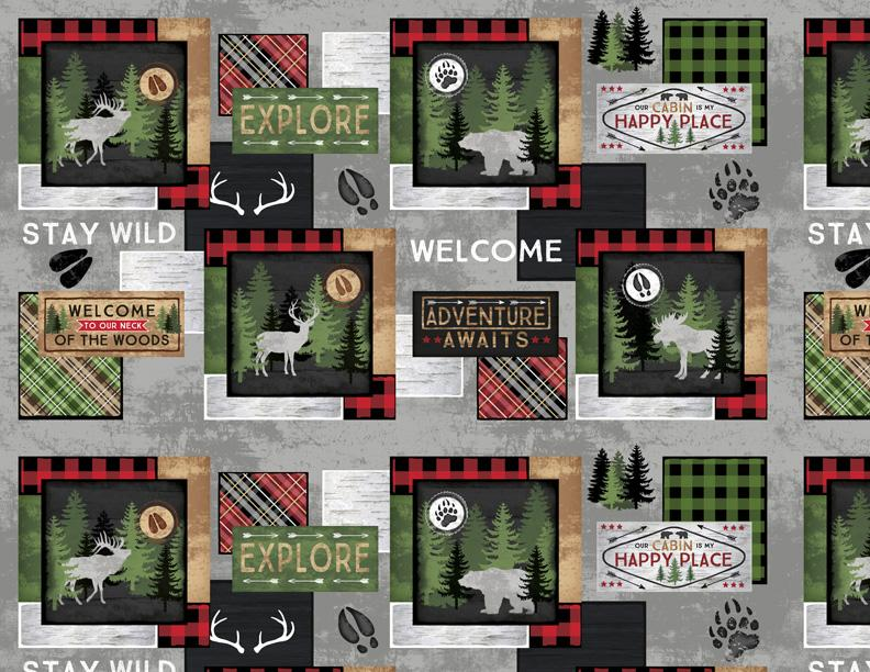 Cabin Welcome Flannel 36101-973