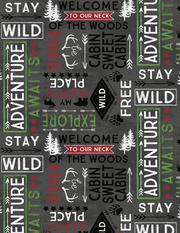 Cabin Welcome Flannel 36104-911
