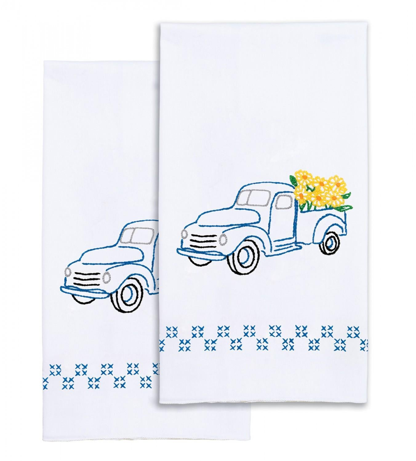 Flower Delivery Hand Towels Hand Emboridery