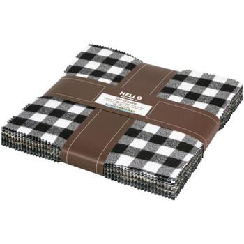 Mammoth Flannel Layer Cake Black