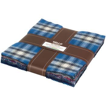 Mammoth Flannel Layer Cake Blue