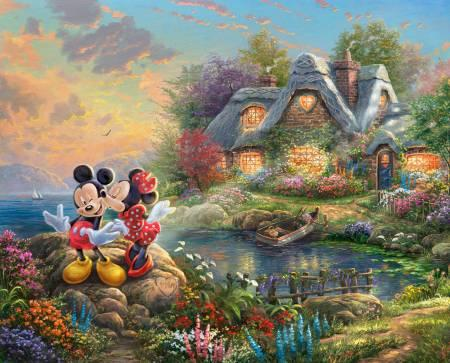 Mickey and Minnie Sweat Heart Cove Panel