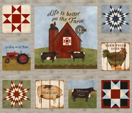 On the Farm Barn Panel