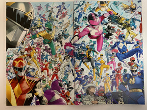 Might Morphin #1 and Power Rangers #1 Mora connecting 1:10 variant set
