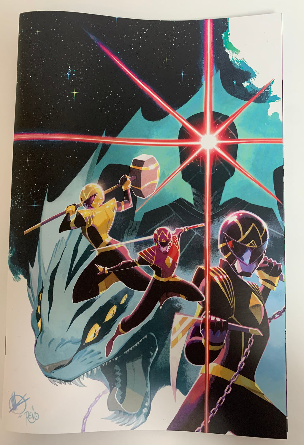 Power Rangers #1 1:100 Scalera variant raw