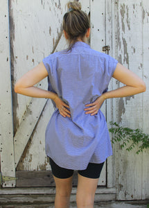 oversized smock shirt dress