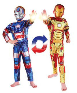 Ironman To Iron Patriot Reversible Costume-Child  sc 1 st  Costumes NQ & Ironman To Iron Patriot Reversible Costume-Child u2013 Costumes NQ