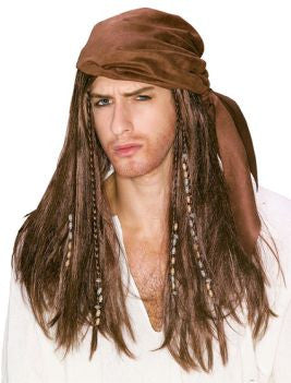 Caribbean Pirate Wig- Adult
