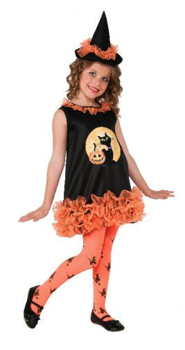 Orange Tutu Witch Costume- Child
