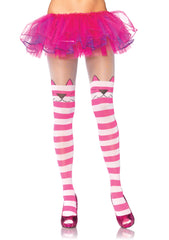 Cheshire Cat Opaque Striped Spandex Tights