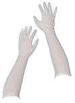Nylon Gloves 45cm - White