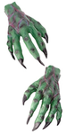 Green Rubber Monster Hands with Claws
