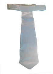 Gangster Tie - White Satin - Velcro