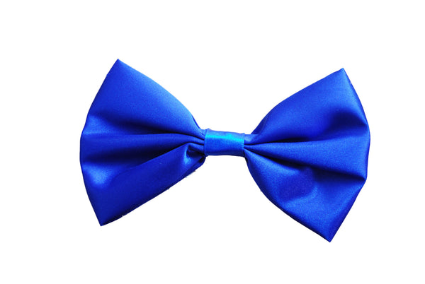 Satin Bow Tie - Blue