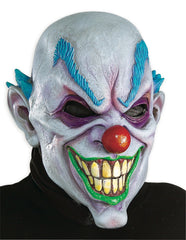 Bald Crazy Clown Mask-Adult