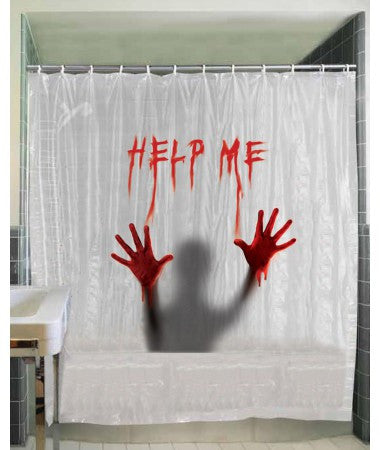 Creepy Bloody Shower Curtain