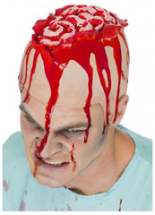 You will need more than life support when you see our adult unisex FX Brain Latex Head Cap fancy dress accessory. The cap features gruesome brain detailing, just add blood and this will definitely create some blood curdling screams this halloween.  Costumes NQ