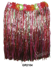 Childs Hula Skirt - Multi w/Flowers