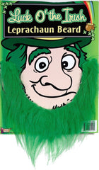 "Dress up with this green beard as a Leprechaun to try for the ""Luck of the Irish"" Costumes NQ"
