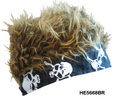 Flair Hair Black Bandanna - Brown Hair