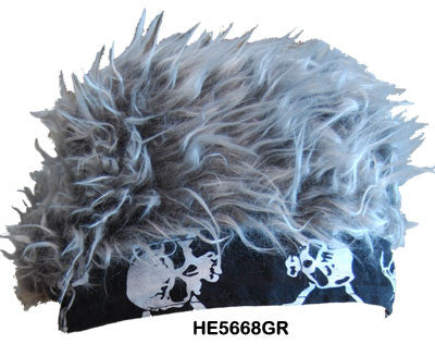 Flair Hair Black Bandanna - Grey Hair