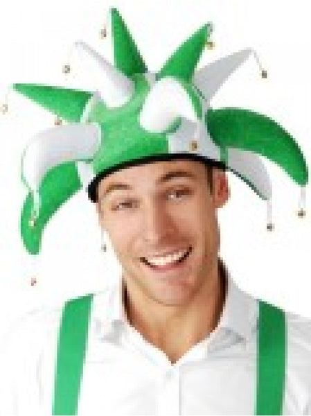 Jester Hat Green and White