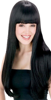 Long Glamour Wig with Fringe