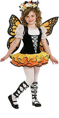Monarch Butterfly Princess Girls Costume