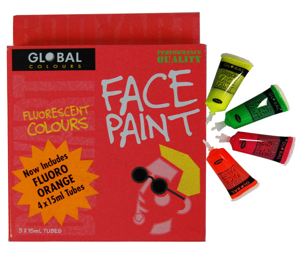 Global Body Art 15ml Pack - Fluoro