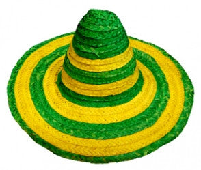Mexican Sombrero-Green and Yellow