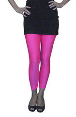 "Get ""Back to the Future' dancing in these fluoro pink footless tights! The 1980's was all about color, lots of bead and messy hair."