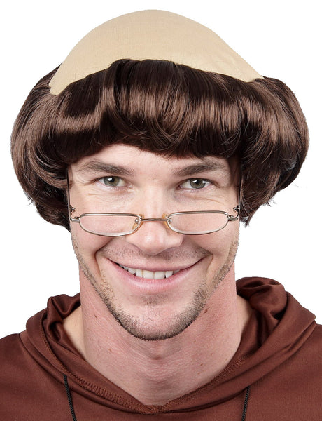 Monk Wig - Brown
