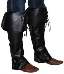 These Adult Boot Covers make the perfect addition to any Pirate,  Renaissance, Viking or Steampunk costumes. They are made out of black OR brown vinyl and can be laced up which adds to the authentic look.  Costumes NQ