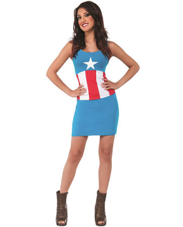 Captain America Tank Dress-Adult