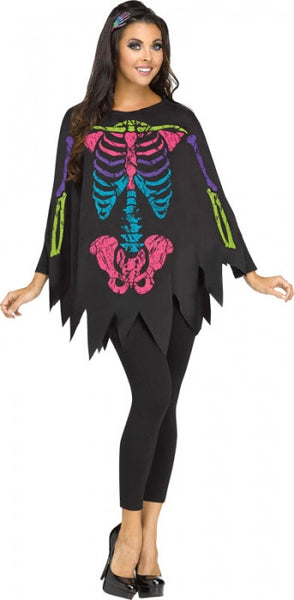 Skeleton Coloured Poncho
