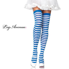 Blue-and-White-Striped-Thigh-High-Stocking-6005-Leg-Avenue-CostumesNQ