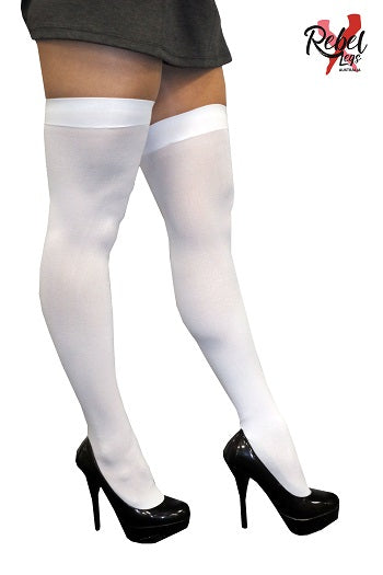 Oktoberfest White Thigh High Tights-Adult