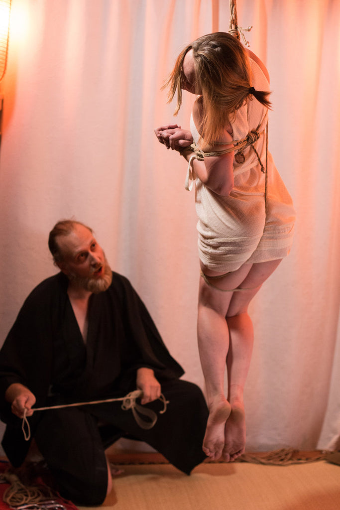 Nicolas Yoroï and Faustine during Soirée Shibari, Photo by Noore