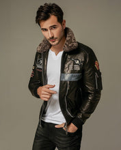 Load image into Gallery viewer, Appliqued Embroidered Vegetable Tanned Goatskin Moto Jacket