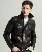 Load image into Gallery viewer, Casual Elastic Hem Vegetable Tanned Goatskin Jacket