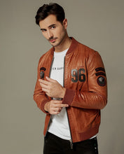 Load image into Gallery viewer, Casual Embroidered Zippered Baseball Moto Jacket