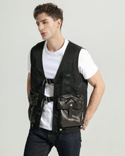 Load image into Gallery viewer, Casual Multi-function Pocket Minimal Goatskin Leather Vest