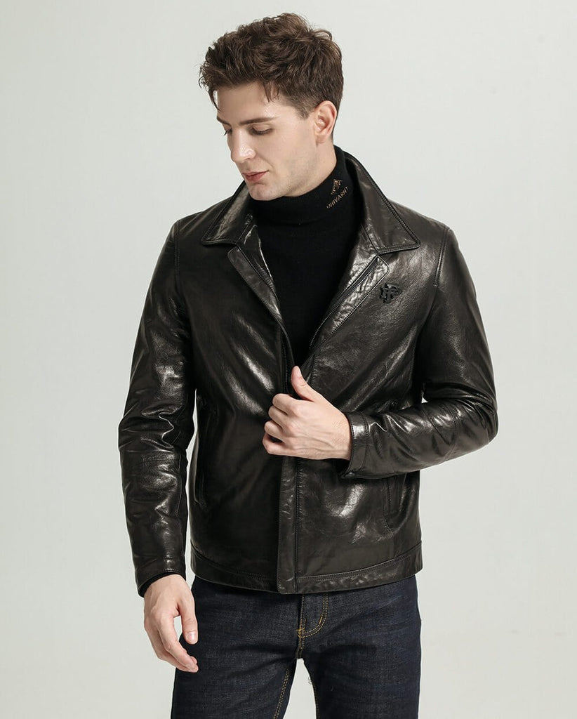 Casual Vegetable Tanned Goatskin Jacket