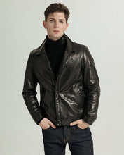 Load image into Gallery viewer, Casual Vegetable Tanned Goatskin Jacket