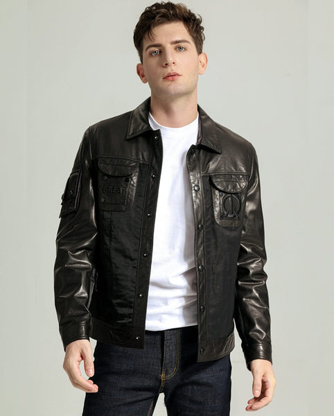 Cowboy Minimal Goatskin Jacket with Sleeve Pocket